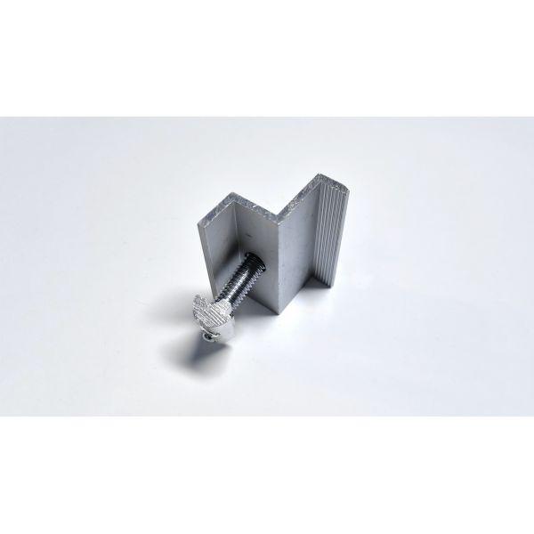 Uniwersalna klema końcowa 35mm - Srebrna