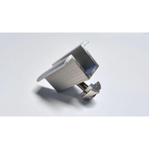 Uniwersalna klema środkowa 35mm - Srebrna