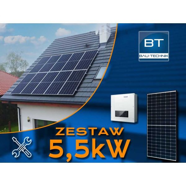 Zestaw fotowoltaiczny na dach - 5,5kW